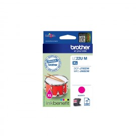 Brother LC-22UM - Original - Encre à pigments - Magenta - Brother - DCP-J785DW - MFC-J985DW - Rendement élevé (XL)