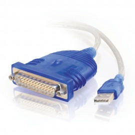 Cables To Go C2G 1.8m USB/DB25 Adapter - DB25 - USB 2.0 - Male connector / Male connector - 1,8 m - Blanc