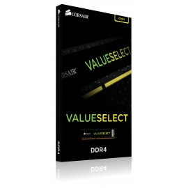 Corsair ValueSelect 4GB - DDR4 - 2400MHz - 4 Go - 1 x 4 Go - DDR4 - 2400 MHz - 288-pin DIMM - Noir