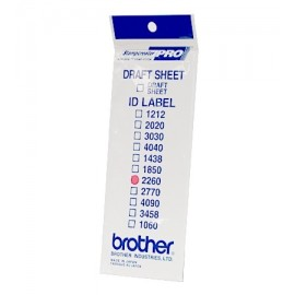 Brother ID2260 - Brother SC-2000 - SC-2000USB - 12 feuilles - 22 x 60 mm