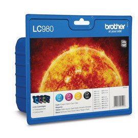 Brother LC LC980VALBP - Ink Cartridge Original - Black, cyan, magenta, Yellow