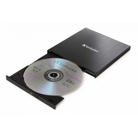 Verbatim 43889 - Noir - Plateau - PC de bureau/PC portable - Blu-Ray RW - USB 3.1 Gen 1 - BD,BD-R,BD-R DL,CD,DVD