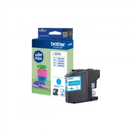 Brother LC-221C - Original - Cyan - Brother DCP-J562DW - MFC-J480DW - MFC-J680DW - MFC-J880DW - 1 pièce(s) - Impression à j...