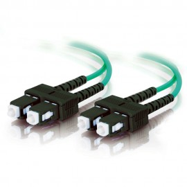 Cables To Go C2G 85513 - 1 m - OFNR - SC - SC - Male connector / Male connector - Turquoise
