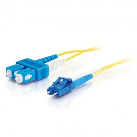 Cables To Go C2G 85586 - 1 m - OFNR - LC - SC - Male connector / Male connector - Jaune