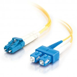 Cables To Go C2G 85587 - 2 m - OFNR - LC - SC - Male connector / Male connector - Jaune