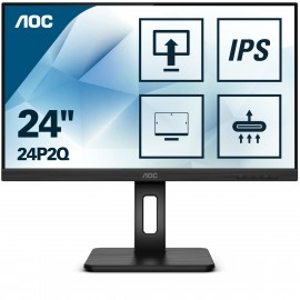 "AOC 24P2Q - 60,5 cm (23.8"") - 1920 x 1080 pixels - Full HD - LED - 4 ms - Noir"