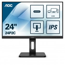 "AOC 24P2C - 60,5 cm (23.8"") - 1920 x 1080 pixels - Full HD - LED - 4 ms - Noir"