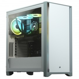Corsair 4000D Tempered Glass Mid-Tower White - Tower - ATX
