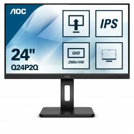 "AOC Q24P2Q - 60,5 cm (23.8"") - 2560 x 1440 pixels - Quad HD - LED - 4 ms - Noir"