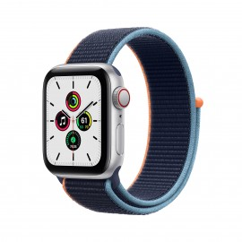 Apple Watch SE GPS+ Cellular 40mm Silver Aluminium Case with Deep Navy Sport Loop