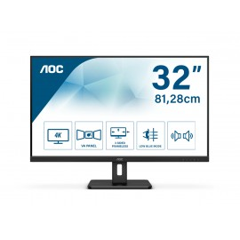 AOC 32'' VA UHD 4K Monitor 3840 x 2160 60Hz DisplayPort HDMI 4ms - Flat Screen - 32""