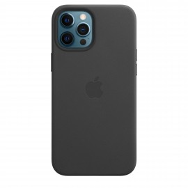 Apple iPhone 12 Pro Max Leather Case MagSafe - Black - Bag