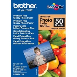 Brother BP71GP50 Premium Glossy Photo Paper - Blanc - 260 g/m² - 265 µm - 50 feuilles - 102 x 152 mm