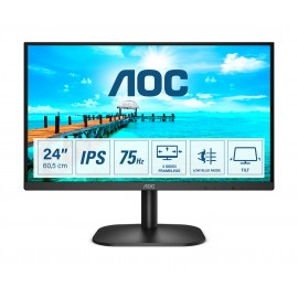 "AOC Basic-line 24B2XDA - 60,5 cm (23.8"") - 1920 x 1080 pixels - Full HD - LED - 4 ms - Noir"