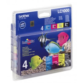 Brother LC LC1000 Value Pack - Ink Cartridge Original - Black, cyan, magenta, Yellow