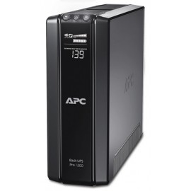 APC BR1500G-FR - 1200 VA - 865 W - 445 J - Sealed Lead Acid (VRLA) - 8 h - Noir