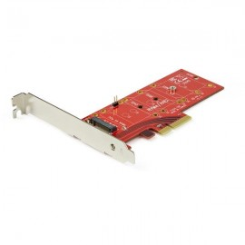 StarTech.com Adaptateur PCI Express x4 vers SSD M.2 PCI-E - PCIe - M.2 - Full-height / Low-profile - Rouge - CE - FCC - REACH...