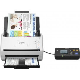 Epson WorkForce DS-530N - 215,9 x 6096 mm - 600 x 600 DPI - 30 bit - Alimentation papier de scanner - Blanc - LCD