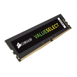 Corsair ValueSelect 4 GB - DDR4 - 2666 MHz - 4 Go - 1 x 4 Go - DDR4 - 2666 MHz - 288-pin DIMM - Noir